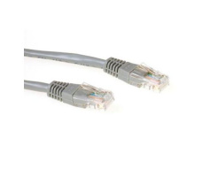 ACT U/UTP 0.50 meter CAT6 patch cable grey