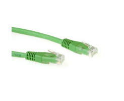 ACT U/UTP 0.50 meter CAT6 patch cable green