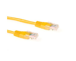 ACT U/UTP 1 meter CAT6 patchkabel geel