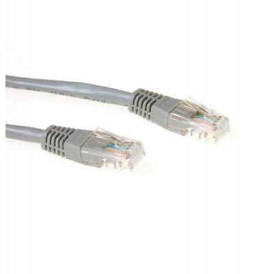 ACT U/UTP 1 meter CAT6 patchkabel grijs