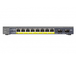 Netgear GS110TP ProSafe 8 Ports Gigabit POE Smart Switch met 2 Gigabit glasvezel-SFP