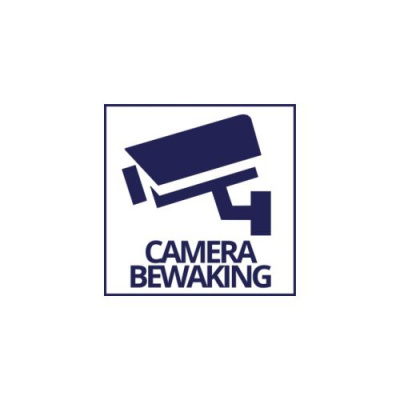Sticker Camerabewaking 10 x 10 cm - Without brandname