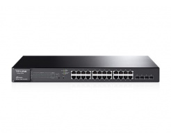 TP-LINK JetStream T1600G-28PS 24-Port Gigabit Smart PoE+ Switch with 4 SFP Slots