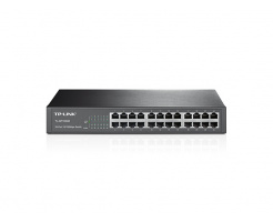 TP-Link TL-SF1024D 24-port 10/100M Switch,rack-mountable steel case