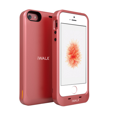iWalk Chameleon iPhone SE Powercase 2000mAh Rose Goud voor iPhone 5 / 5S / SE