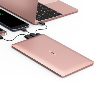 iWalk Chic 20000mAh Quickcharge Backup Batterij Rose Goud