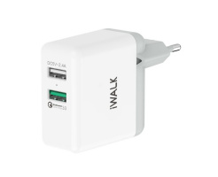 iWalk Leopard Dual USB Quick Charge adapter