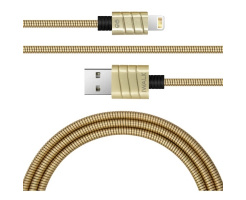 iWalk Twister Steel Metallic Lightning Kabel Goud