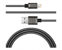 iWalk Twister Steel Metallic Lightning Cable Grey