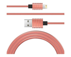 iWalk Twister Steel Metallic Lightning Kabel Rose-Goud