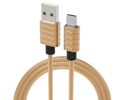 iWalk Twister Steel Metallic Type-C Kabel Goud