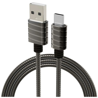 iWalk Twister Steel Metallic Type-C Kabel Grijs