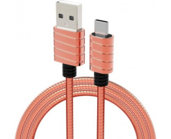 iWalk Twister Steel Metallic Type-C Kabel Rose-Goud
